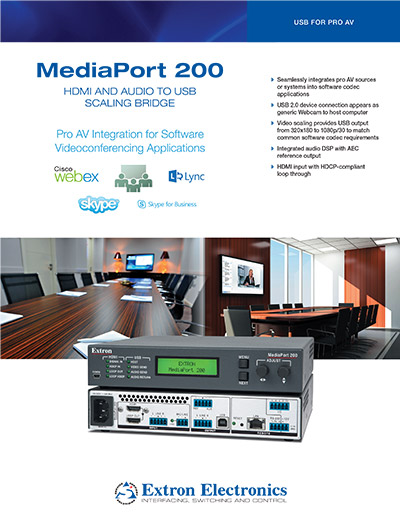 Extron product brochure